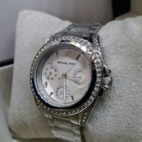 Michael Kors Chronograph White Dial Silver With Stones Women's Watch Price In Pakistan