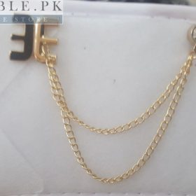 Lapel Pin Golden Chain With Two Sided Letter E Mark In Pakistan