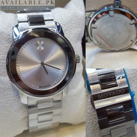 Movado Bold Silver Dial Chrome Bezel Men's Watch Price In Pakistan.