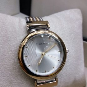 Calvin Klein Dull Gold Silver Dial Women's Watch Price In Pakistan