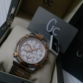 Guess White & Golden Chronograph CableForce Watch Price In Pakistan