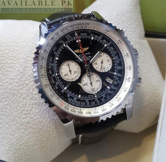 Breitling 1884 Chronograph With Speed Measure Graph His Watch