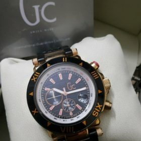 Guess Gc Black & Golden Chronometer His Watch Price In Pakistan