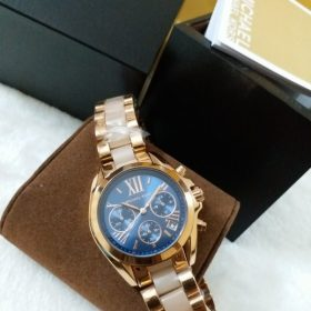 Michael Kors Blue Dial Pearl White & Golden Watch MK-5799 Price In Pakistan