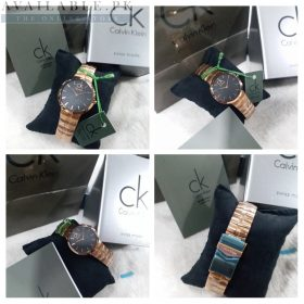 Calvin Klein Minimal Whirl Black & Copper Her Watch Price In Pakistan