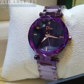 Dior Midnight Glitter Purple Her Watch Price in Pakistan