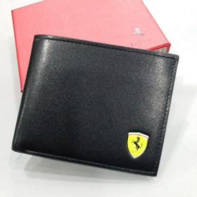Ferrari Black Men's Wallet With Logo Price in Pakistan