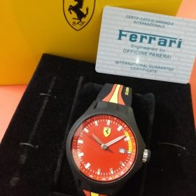 Ferrari Red Pit Crew Sports Rubber Strap Men Watch In Pakistan