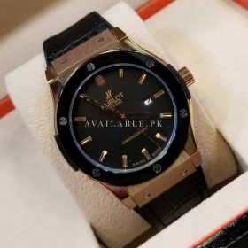Hublot Aerofusion Golden Case Black Bezel Men's Watch