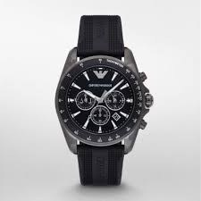 Mens Emporio Armani AR11028 Black Rubber Watch