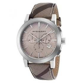 Burberry Women's BU9358 Swiss Chronograph Check Strap Watch