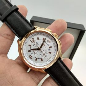 Movado ESQ Rose Gold & Black Band Men Watch Price In Pakistan