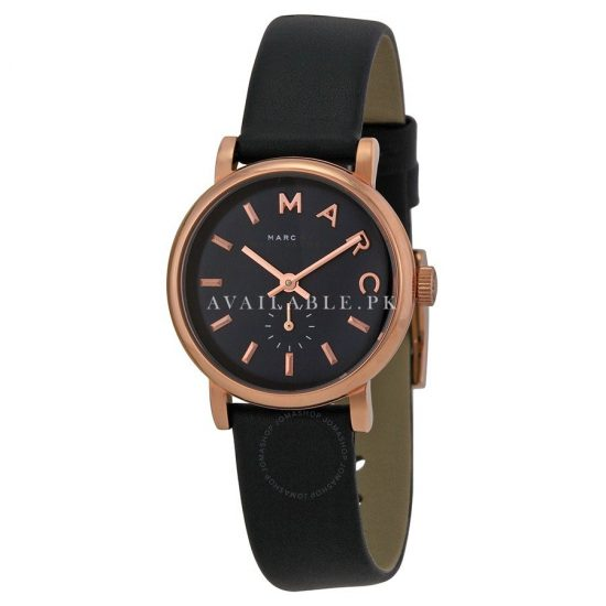 Marc Jacobs Baker Navy Dial Navy Leather Ladies Watch MBM1331