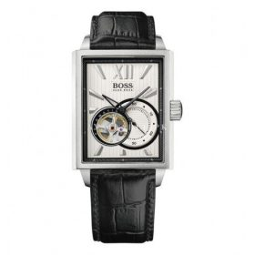 Hugo Boss 1512504 Gents Watch Self-Winding Automatic Black Leather