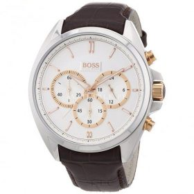 Hugo Boss Dial Stainless Steel Leather Chrono Men's Watch 1512881