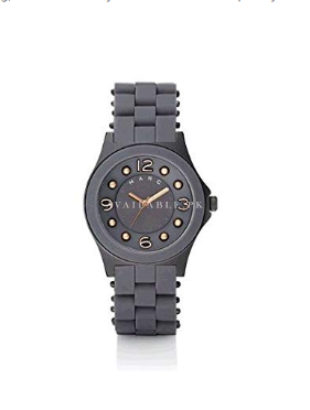Marc Jacobs Grey Pelly Silicone S/S With Rose Gold Watch-MBM2537