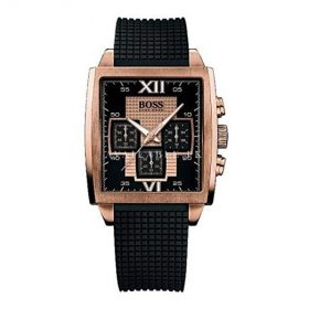 Hugo Boss 1512444 Stainless Steel Black Rubber Mineral Women's Watch