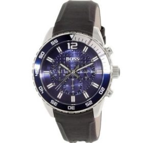 Hugo Boss Blue Dial Stainless Steel Rubber Men's Watch 1512803