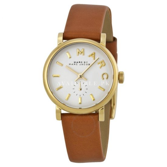 Marc Jacobs MBM1317 Tan Brown Leather Strap Gold Ladies Watch