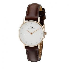 Daniel Wellington Women's DW00100062 Round Analog Brown Watch