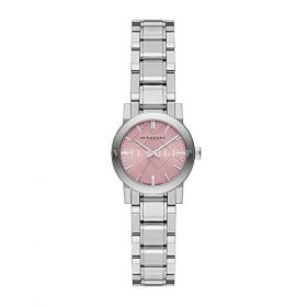 Burberry The City Pink Dial Stainless Steel Ladies Watch BU9231