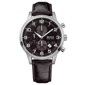 Hugo Boss Black 1512448 Round Black Dial Steel Case Men's Classic