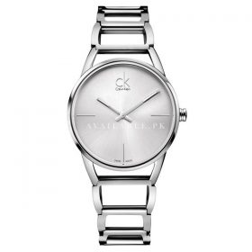 Calvin Klein Womens Stately Watch Dial color Silver K3G23126