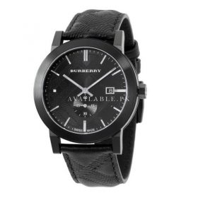 Burberry Watch Swiss Made Black Leather BU9906