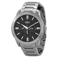 Hugo Boss Multi-Function Black Dial Stainless Steel Mens Watch 1512893