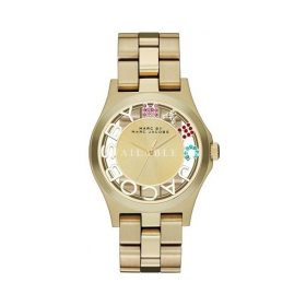 Marc by Marc Jacobs MBM3263 Ladies Gold Henry Skeleton Watch