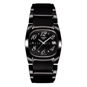 Tissot Women's T009.110.11.057.01 Black Stainless Steel Watch