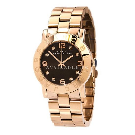 Marc Jacobs MBM3167 Women's Amy Brown Gold Steel Bracelet Watch