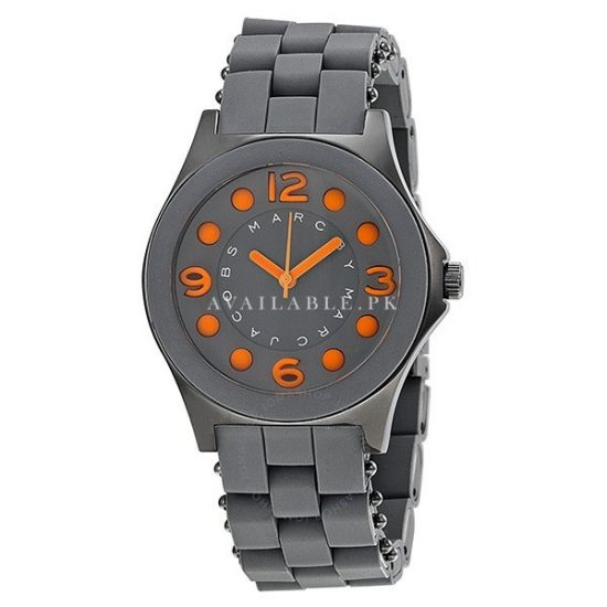 MBM2589 Marc By Marc Jacobs Pelly Silicone Gunmetal Ion Ladies Watch