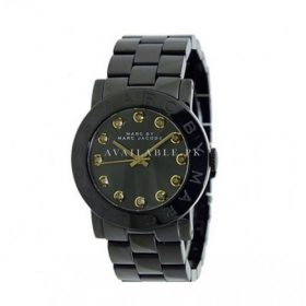 Marc Jacobs MBM8595 Women's Amy Stainless Steel Black Dial Watch