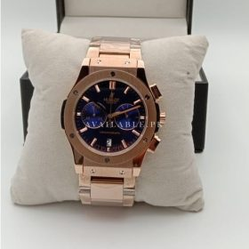Hublot Classic Chronometer Blue Dial All Rose Gold Mens Watch Price In Pakistan