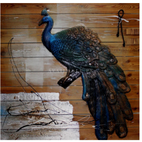 HSK Art - PEACOCK | Genre: CONTEMPORARY ART Wall Painting