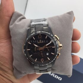 Rado HyperChrome Chronograph Black & Golden Mens Watch