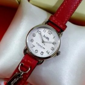 Coach Maddy Red Belt White Dial Women's Watch Price In Pakistan