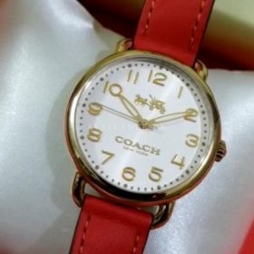 Coach Maddy Red Classic White Dial Women's Watch Price In Pakistan