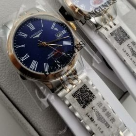 AAA replica % Longines Dual Tone Blue Dial Couple Watch Price In Pakistan