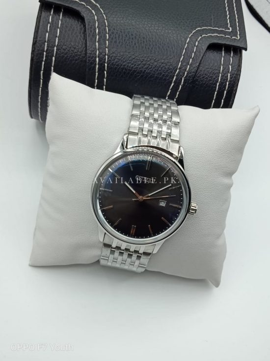 Citizen Black Dial Silver Chain Curved Glass Mens Watch Price In Pakistan