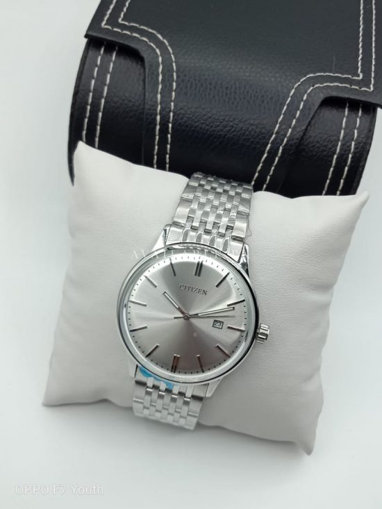 Citizen Full Silver Curved Glass Mens Watch Price In Pakistan