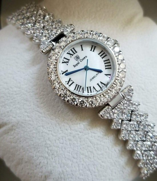 Royal Crown Classic White Silver Her Watch Price In Pakistan