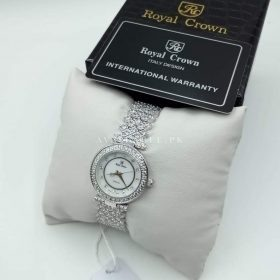 Royal Crown White Jewel Round Women Watch Price In Pakistan