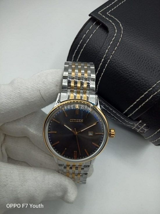 Citizen Black Dial Two Tone Curved Glass Mens Watch Price In Pakistan