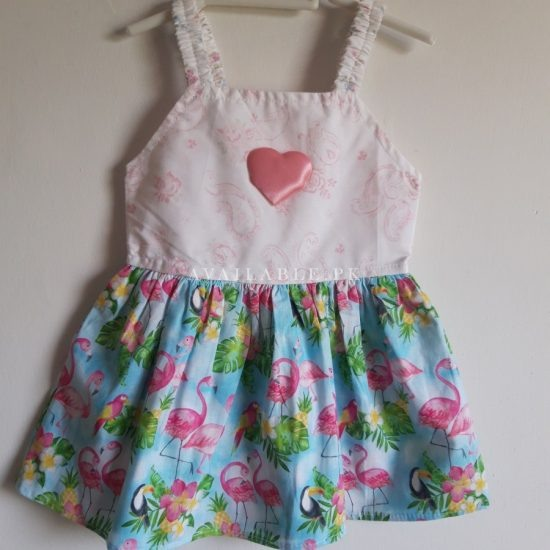 Baby Girl Frocks Cotton Fabric With Bow 0 to 9 Months Price in Pakistan