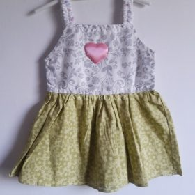 Baby Girl Frocks Cotton Fabric With Bow 6 to 12 Months (Pack Of 3)