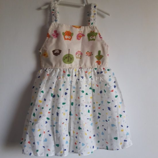 Baby Girl Frocks Cotton Fabric With Bow Upto 2.5 Years (Pack Of 3) Price in Pakistan