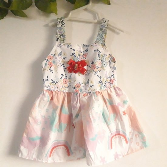 Baby Girl Frocks Cotton Fabric With Bow Upto 1 Year (Pack Of 3) Price in Pakistan