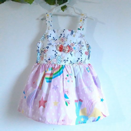 Baby Girl Frocks Cotton Fabric With Bow Upto 3 Years (Pack Of 3) Price in Pakistan